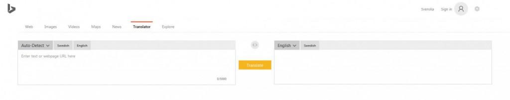Instruction Bing Translator
