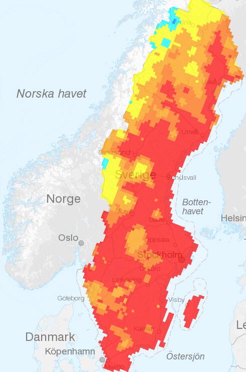 skogsbrand karta Uppdaterat om skogsbränderna i Härjedalen:Åter normala sändningar  skogsbrand karta
